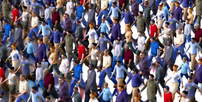 Men Women Crowd